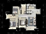 金悦华府_3室2厅2卫 建面94平米