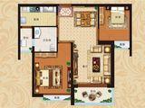 恒大翡翠华庭_2室2厅1卫 建面88平米