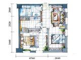 云特区_2室1厅1卫 建面70平米
