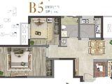 世茂云尚城_2室2厅1卫 建面72平米