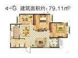 清韵颐景苑_3室2厅1卫 建面79平米