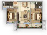 固安阿尔卡迪亚_2室2厅1卫 建面0平米
