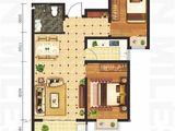 坤泽10里城_2室2厅1卫 建面87平米