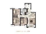 兴龙紫云府_3室2厅1卫 建面97平米